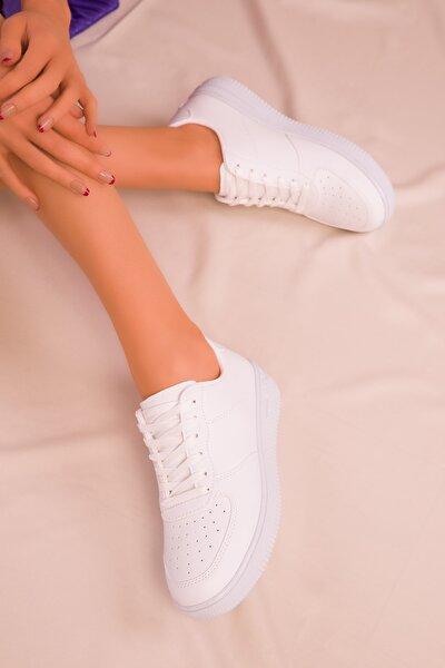 Beyaz Kadın Sneaker 14361