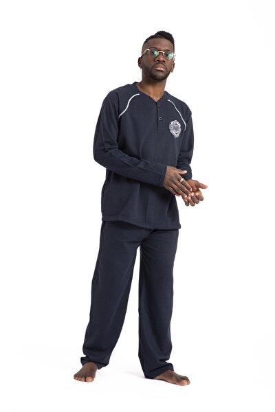 Erkek Pijama Takımı Kışlık Kalın Içi Peluşlu