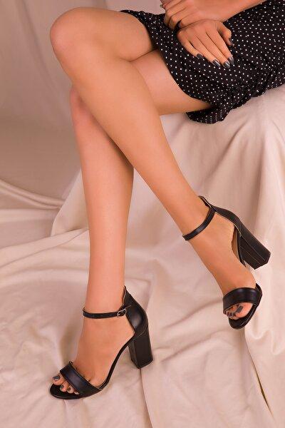Siyah Kadın Klasik Topuklu Ayakkabı 14532