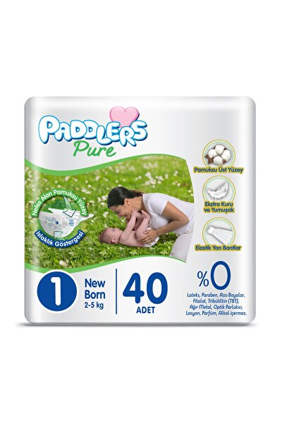Pure Bebek Bezi 1 Numara Newborn 40 Adet 2-5 kg Eko Paket