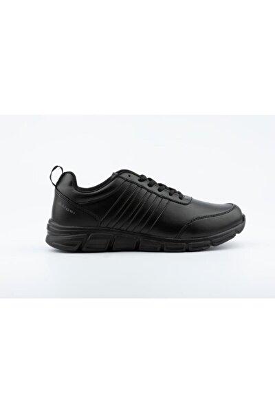 Erkek Siyah Bağcıklı Yürüyüş Ayakkabısı
