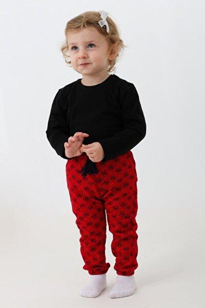 Siyah Kız Bebek Desenli Badyli 2 Li Takım