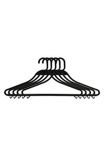 Kıyafet Askısı Plastik Kırılmaz Siyah 50 Adet