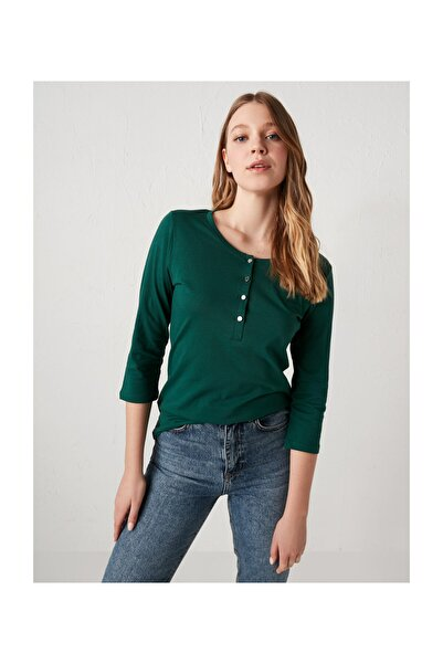 Kadın Koyu Yeşil Tişört