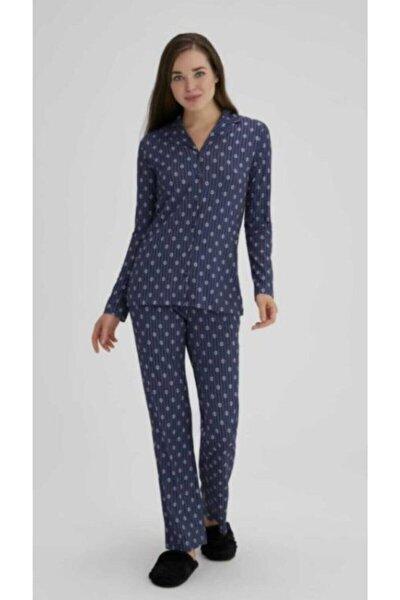 Eros Esk27692 Kadın Çiçekli Gömlek Pijama Takımı