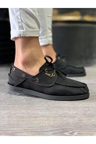 Erkek Siyah Mevsimlik Keten Ayakkabı 008