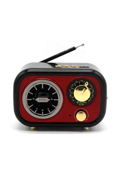 M-208bt Nostaljik Görünümlü Fm Radyo Usb Bluetooth Hoparlör