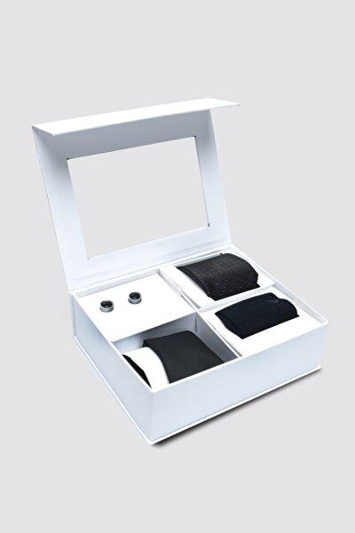 Standart Kravat Mendil Kol Düğmesi Çorap Aksesuar Setleri