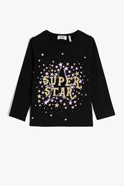 Siyah Kız Çocuk T-Shirt