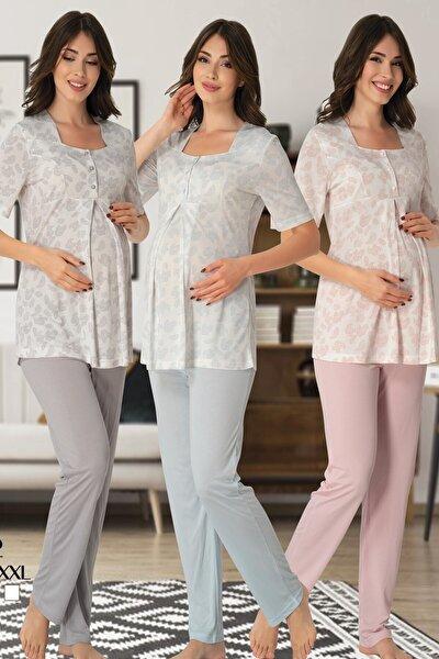 Lohusa Pijama Takım Effort 8012-mavi