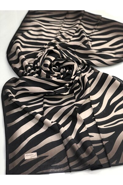 Kadın Zebra Desen Modal Şal V01