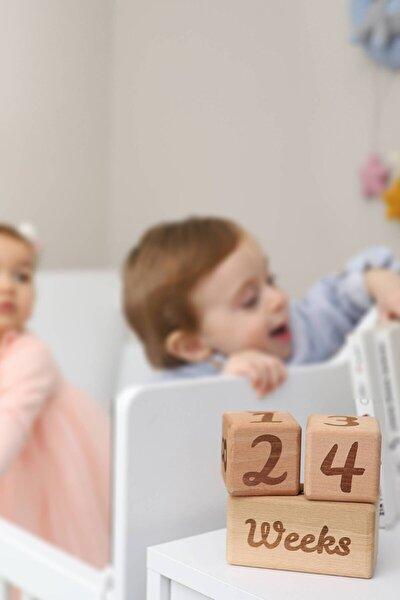 Ahşap Anı Küpleri - 3'lü Anne Bebek Hatıra Fotoğraf Çekim Ve Oyuncak Dekor Anı Küpü