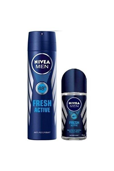 Fresh Active Erkek Deodorant + Rolon