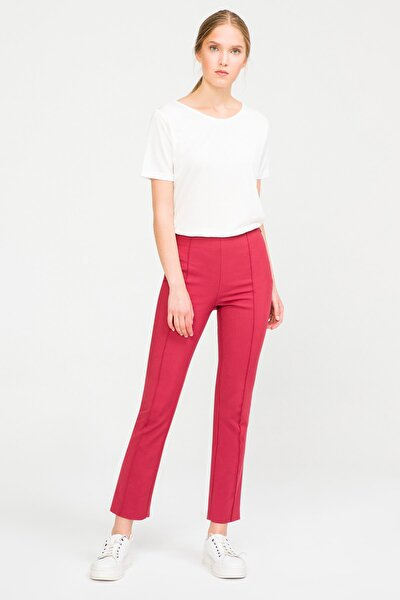 Kadın Kiremit Ütü İzli Chino Pantolon