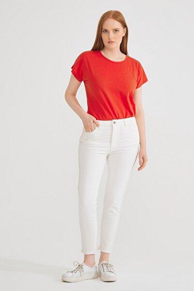 Kadın Kemik Yanı Şerit Detaylı Pantolon