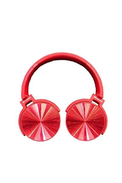Teknomarketim Extra Bass Kablosuz Kulaküstü Kulaklık Bluetooth Kulaklık Kırmızı