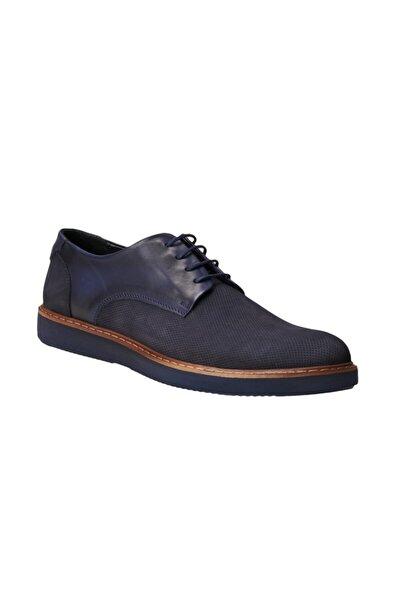 Erkek Lacivert Casual Deri Ayakkabı