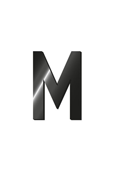 Baş Harf Metal Etiket M