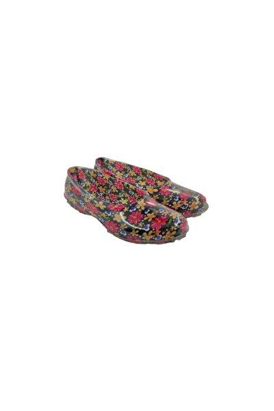 Kadın Karışık Renkli Çiçekli Lastik Ayakkabı