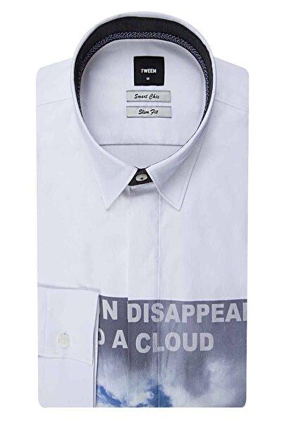 Tween Slim Fit Beyaz Düz Gömlek