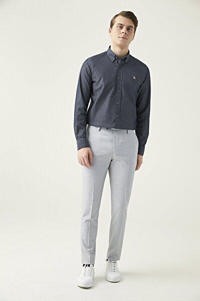 Gri Renk Erkek  Pantolon (Slim Fit)