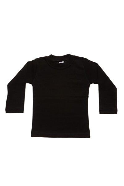 Çocuk  Siyah 4-5 Yaş Likralı T-shirt & Body