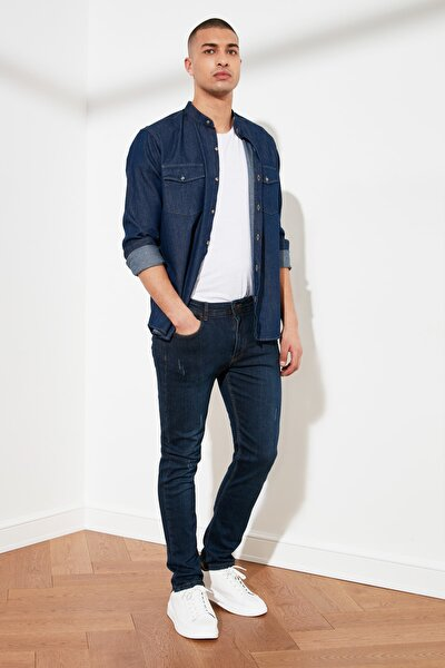 Indigo Erkek Destroylu Skinny Fit Jeans TMNSS21JE0205