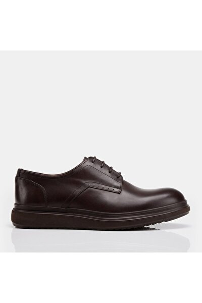 Hakiki Deri Kahve Erkek Günlük Ayakkabı
