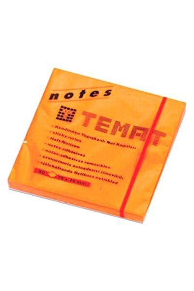 75 Mmx75 Mm Yapışkanlı Not Kağıdı Fosforlu Turuncu