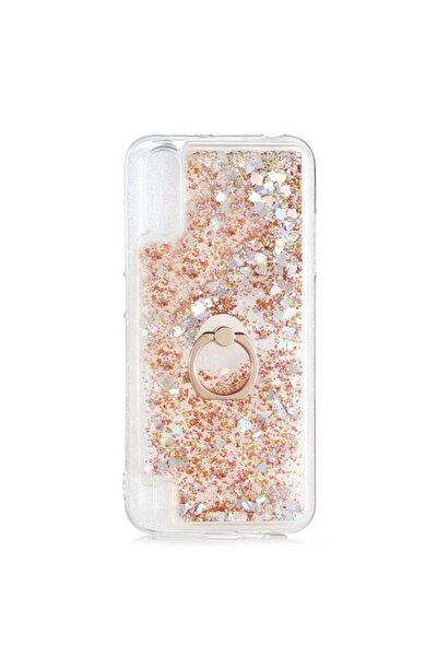 Nihcase Kılıf Galaxy A01 Aqueous Silicone Gold With Milce Ring