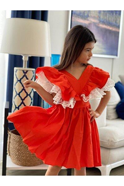 Prenses Kol Kurdele Detaylı Keten Elbise