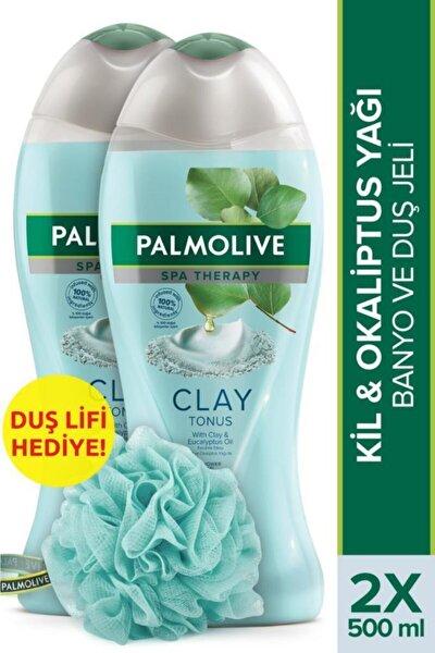 Spa Therapy Clay Tonus Kil ve Gül Yağı Banyo ve Duş Jeli 500 ml x 2 Adet + Duş Lifi Hediye