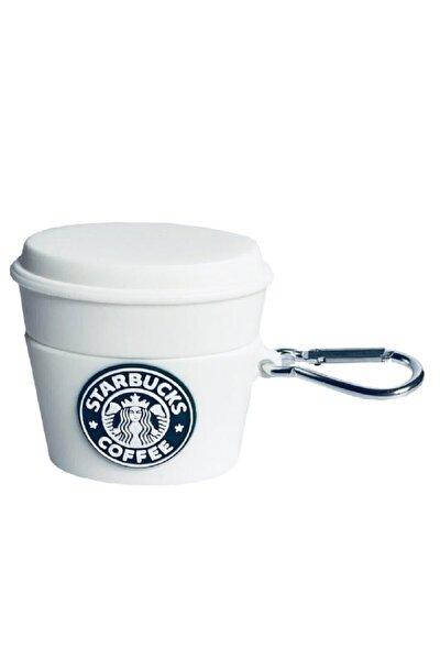 Sevimli Airpods Pro Beyaz Bardak Coffe Kılıf