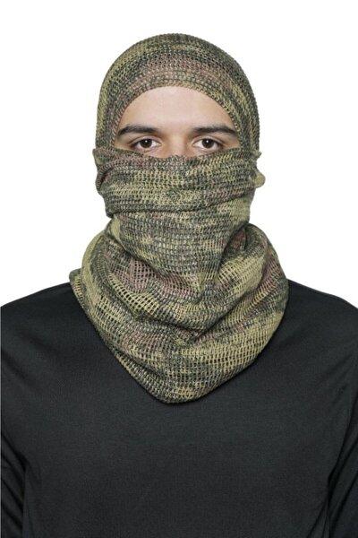 Single Tsk Kamuflaj Kare Fileli Askeri Şal, Fileli Puşi, Gizlenme Ağı