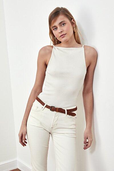 Taş Askılı Fitilli Örme Bluz TWOSS21BZ0561