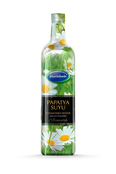 Papatya Suyu 1 Litre Cam Şişe