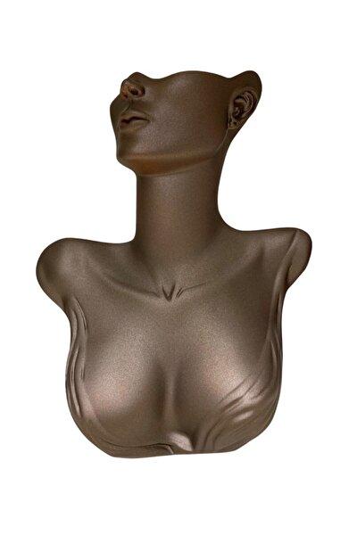 Polyester Boyalı Kahverengi-bronz Vücut / Silüet Kolye Takı Mankeni,stand,vitrin