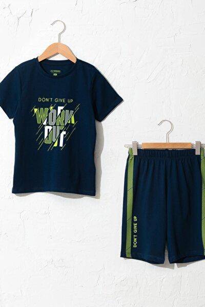 Erkek Çocuk Lacivert Jc7 Pijama Takımı