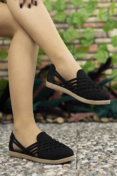 Kadın Siyah Süet Günlük Ayakkabı 0012or01
