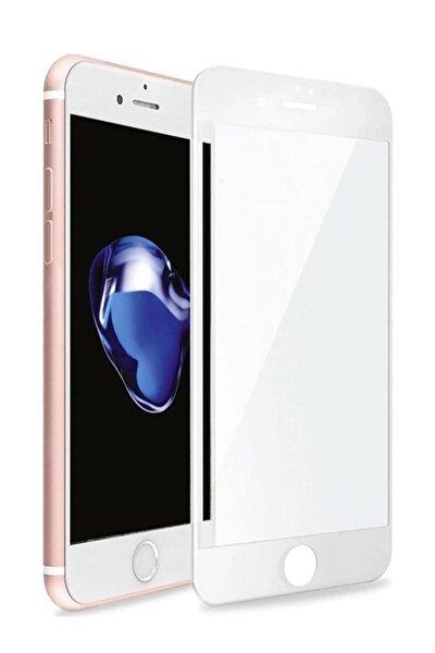 Uyumlu Iphone 6 Plus 6s Plus Seramik Nano Beyaz Esnek Tam Full Kaplayan Kırılmaz Cam Ekran Koruyucu