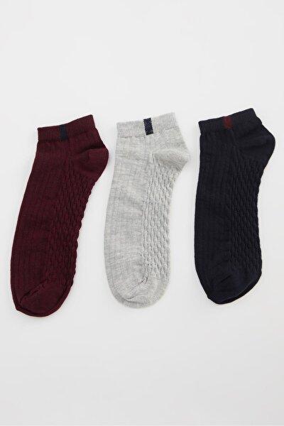 Erkek Karma 3'lü Patik Çorap
