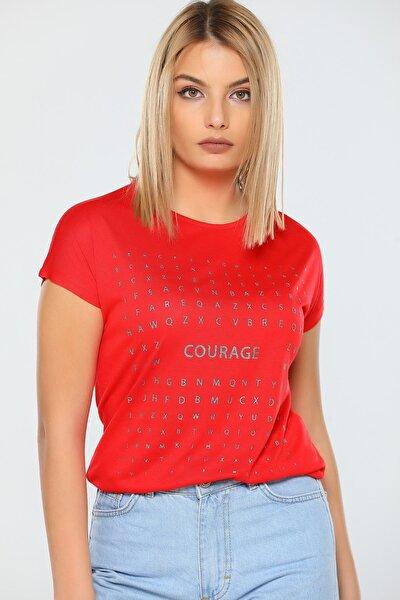 Sim Baskılı Kısa Kol T-shirt