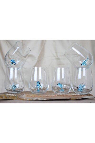 Aqua Serisi Cam Figürlü Su Bardağı