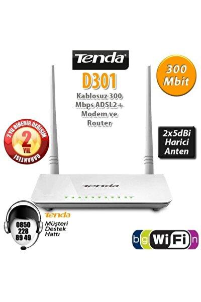 D301v2 300 Mbps 4 Port Adsl2+ Kablosuz Modem 2 Anten