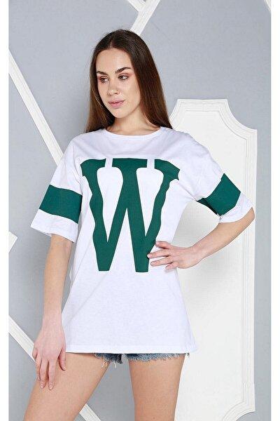 Kadın Beyaz Baskılı T-shirt