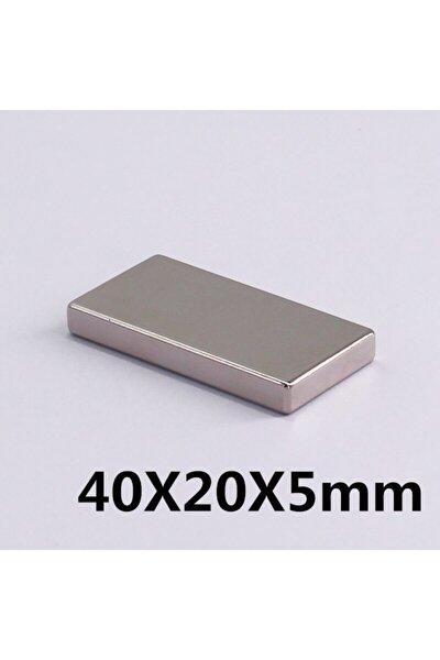 1 Adet Boy 40mm X En 20mm X Kalınlık 5mm Güçlü Neodyum Mıknatıs