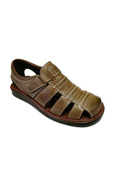 212 Hakiki Deri Erkek Sandalet