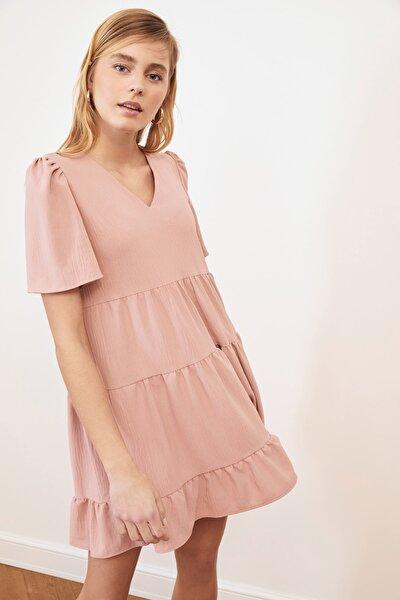 Gül Kurusu Geniş Kesim Elbise TWOSS20EL0400
