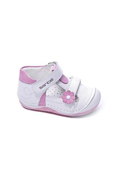 305 T 2902 18-22 Deri Ilkadım Çocuk Ayakkabı Beyaz