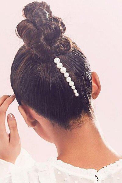 Kadın Inci Model Yan Firkete Saç Tokası